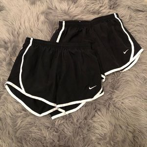 2 black womens size medium Nike shorts